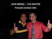 Yus Santos Bersama John Meisel The Great Firewalk Couch
